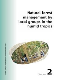 Natural forest management by local groups in the humid tropics
