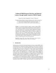 Enhanced fMRI Response Detection and Reduced Latency through ...