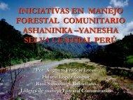 ESTUDIOS DE CASO DE MANEJO FORESTAL COMUNITARIO ...