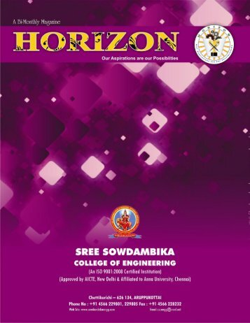 Horizon September – Click Here To Read - SREE SOWDAMBIKA ...