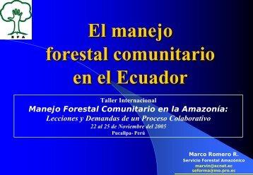 3. el mfc en ecuador - Sistema de Información Forestal de la ...