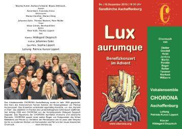 Lux aurumque - chorona