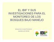 parcelas experimentales - Sistema de Información Forestal de la ...