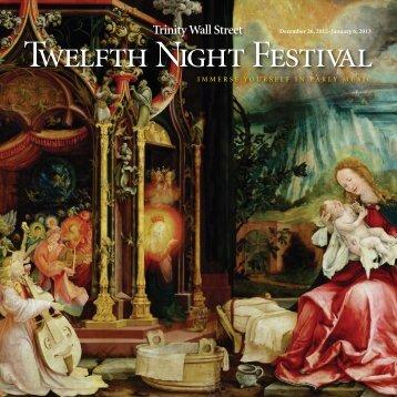 Twelfth Night Festival - Gotham Early Music Scene