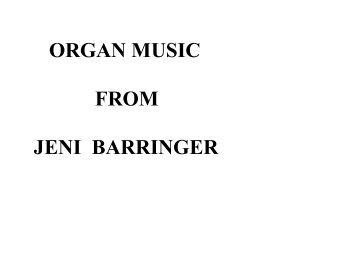organ music from jeni barringer - The Organ Music Society of Sydney