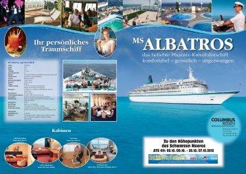 ALBATROS MS Ihr persönliches Traumschiff Ihr ... - Columbus Reisen