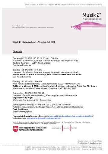 M21N_Termine_Juli 2012 - Hauptsache Musik