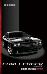 2010 Dodge Challenger User's Guide