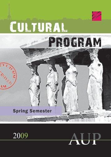 Program Cultural Cultural Program - The American University of Paris