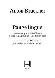 Anton Bruckner Pange lingua - prospect Studio-Label-Verlag