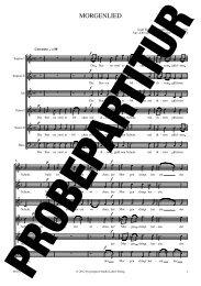 Probepartitur - prospect Studio-Label-Verlag