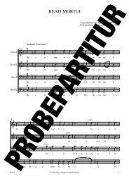 BEATI MORTUI - prospect Studio-Label-Verlag