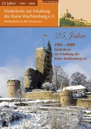 Burgzeitung vom November 2009 - Wachtenburg