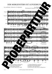 Probepartitur - prospect Studio-Label-Verlag