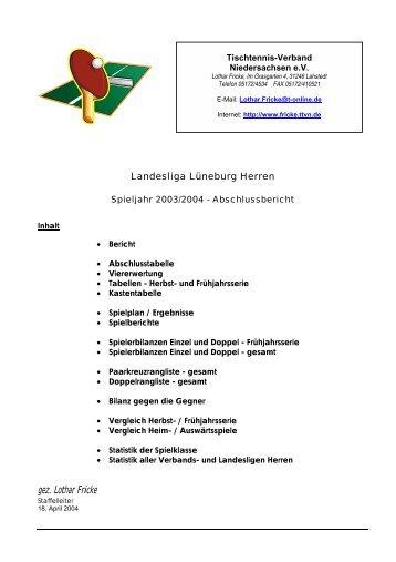 Tischtennis-Verband Niedersachsen eV - TTVN