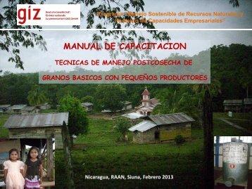 MANUAL DE CAPACITACION POSTCOSECHA GIZ ... - MASRENACE