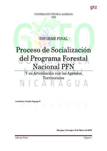 Proceso de Socialización del Programa Forestal ... - MASRENACE