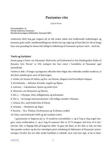 Pausanias-vita - Aigis