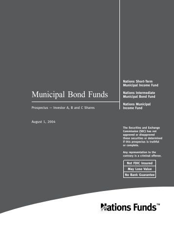 Municipal Bond Funds - Bank of America