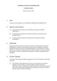Constitution of the European Grassland Federation EGF