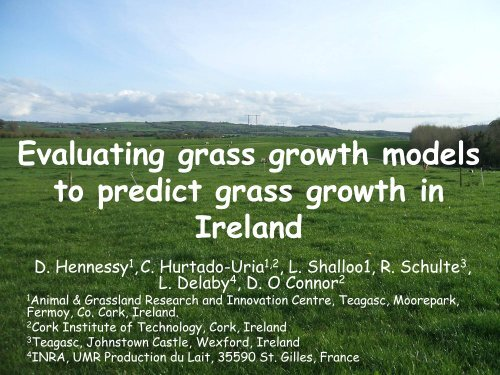 Evaluating grass growth models to predict grass growth in Ireland