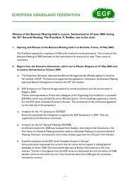 Minutes of the EGF Business Meeting 2004 - European Grassland ...