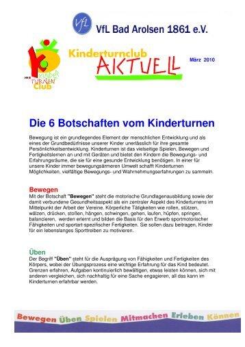 Die 6 Botschaften d. Kinderturnens - VfL Bad Arolsen