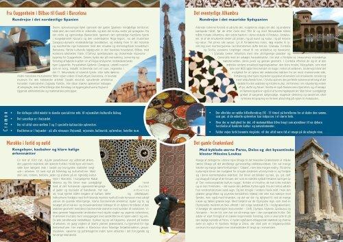 Rejse Folder - Cramon Kulturrejser
