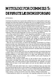 Mytologi for Dummies 5: De første læsningsforsøg - chresteria.dk