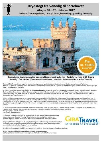 Krydstogt fra Venedig til Sortehavet Afrejse 08. - 20 ... - Giba Travel