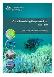 Coral Bleaching Response Plan - GBRMPA - Great Barrier Reef ...