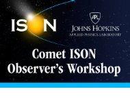 Workshop Introduction - Comet ISON Observing Campaign