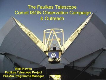 The Faulkes Telescope campaign and outreach - DNN Pro Outer ...
