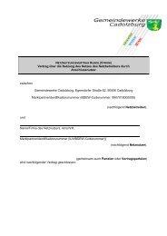 Vertrag über die Nutzung des Netzes des Netzbetreibers durch ...