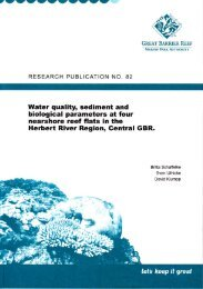 Water quality, sediment and biological parameters at four nearshore ...