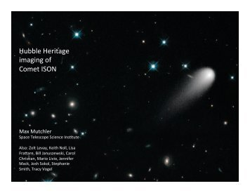 Hubble Heritage imaging of Comet ISON - DNN Pro Outer > Home
