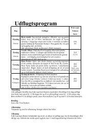 Udflugtsprogram - på egen hånd - Falk Lauritsen