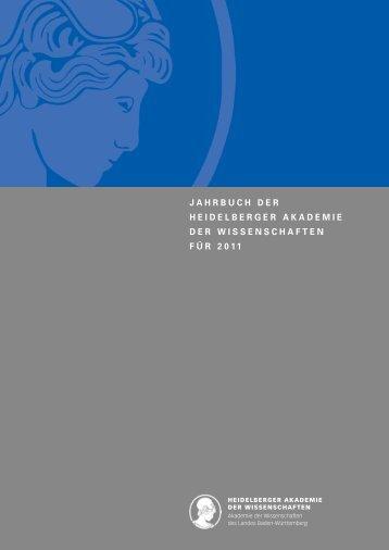 jahrbuch der heidelberger akademie der wissenschaften für 2011