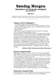 Søndag Morgen Nyhedsbrev for Sorgenfri menighed - Sorgenfri Kirke