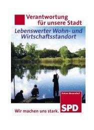 Programm der SPD Hohen Neuendorf zur Kommunalwahl 2008