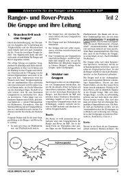 Ranger- und Rover-Praxis Teil 2 Die Gruppe und ... - valk-online.de