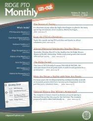 Volume 8 : Issue 5 - Ridge PTO