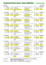 Kreisklasse B Nord Herren Saison 2009/2010 - TSV Edelweiß ...