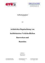 LTD Arbeitspapier Schwerlastflächen HH - Dr. P. J. Wagner Ltd.