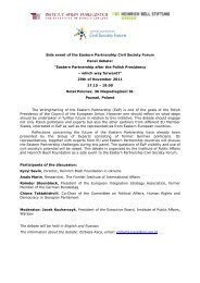 Side event of the Eastern Partnership Civil Society Forum Panel ...