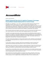 Global Industrial Services & Logistics Company ... - AccountMate