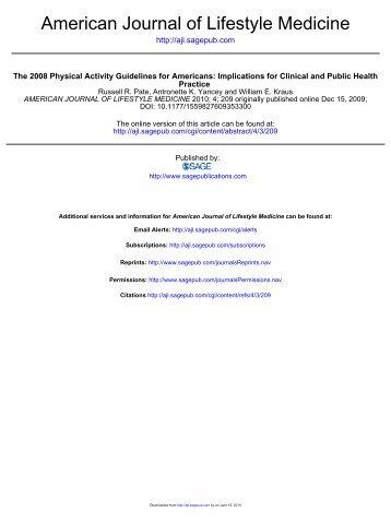 American Journal of Lifestyle Medicine