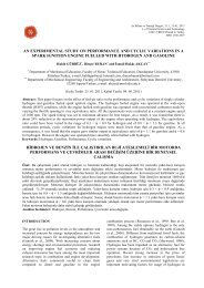 an experimental study on performance and cyclic variations in a ...