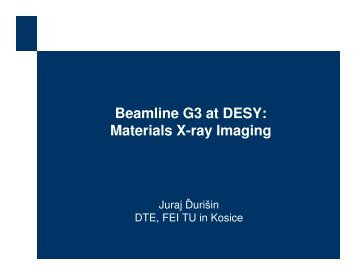 Beamline G3 at DESY: Materials X-ray Imaging