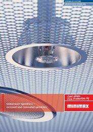 Undercover-Sprinklers – recessed and concealed sprinklers - Minimax